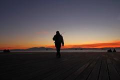 Going Fishing (Blues Views) Tags: macedoniagreece makedonia timeless macedonian  sunset ocean recreation boardwalk fisherman fishing sea seaside thessaloniki thessalonikigreece greece greek evening sundown bigsky neaparaliathessaloniki neaparalia silhouette silhouetteofmanfishing