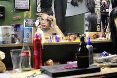 Jamina Getting Ready (Mental Octopus) Tags: transsexual woman man stripper striptease makeup theater safari sextheater hamburg reeperbahn prostitution redlight redlightdistrict workingpoor indoor portrait mirror people realpeople person socialissue entertainment