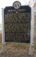 Mercer County Marker (Mercer County, Missouri) (courthouselover) Tags: missouri mo missourihistoricalmarkers mercercounty