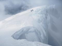 Icy Pinnacles (blue polaris) Tags: new zealand tongariro national park mt mount ruapehu tukino peak te heuheu heu ridge snow cornice volcano mountain ice whakapapa