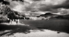 Loch Lomond, Luss, Scotland (Richard Denney) Tags: lochlomond scotland lake mountains impressionism monochrome water beach