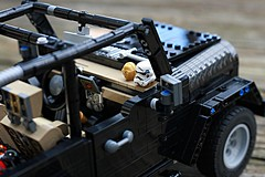 Jeep Wrangler Rubicon LEGO MOC (chihokim) Tags: jeep wrangler rubicon lego moc car 4wd c3po storm trooper