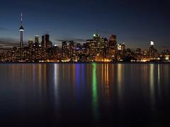 Toronto Skyline (Richard Pilon) Tags: urban architecture canada cntower torontoskyline toronto skyline lake lakeontario olympus city nightphotography