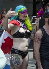 D7K_5850_ep (Eric.Parker) Tags: march pride toronto dyke lesbian nudity parade 2016 breast naked breasts topless publicnudity public candid nude geekgirl nerd girls gender gay homosexual lgbtq