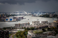"""Look at the ports..."" (Dirk van der Veen) Tags: port ports rotterdam maas euromast"