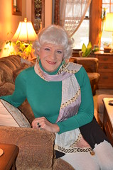 I Hope My Womanly Attributes Come Across In These Pictures (Laurette Victoria) Tags: silver woman sweater laurette female scarf