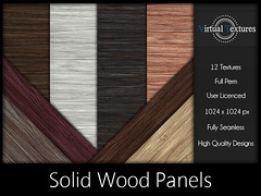 [VT] Solid Wood Panels (VirtualTextures) Tags: textures secondlife wood panel board floor flooring wall pine cedar hardwood bamboo mahogany natural