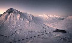 Buachaille Etive Mor, Glencoe (Roksoff) Tags: beinnachrulaiste a82 lochanachlaise lochanstainge blackmount lochba rannochmoor glencoe scottishhighlands scotland meallabhuiridh criese buachailleetivemor winter snow ice frozen water mountains outdoors landscape nikond810 1635mmf4 leefilters buachaillleetivemor thethreesisters devilsstaircase