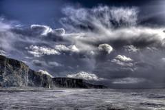 Insensatez (pauldunn52) Tags: temple bay glamorgan heritage coast wales storm clouds sea cliffs waterfall cwm mawr