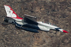 T bird in the Canyon (Nick Collins Photography, Thanks for 2.1 million v) Tags: thunderbirds f16c f16d fighting falcon aircraft airshow aviation flying military nellis nevada usaf usa canon 7dmk2 500mm rainbow canyon california
