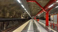 Stockholm, Sweden: Duvbo Station, Line T-10 (Blue) (nabobswims) Tags: duvbo hdr highdynamicrange lightroom linet10 metro nabob nabobswims photomatix se sl sonya6000 station stockholm subway sweden tbana tunnelbana ubahn sunbyberg stockholmsiän