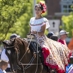 El Tapatia parade entry (acase1968) Tags: mexican girl horseback parade 4th july female horse dress cute nikon colorful reigns d600 300mm f4d