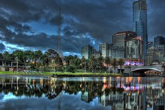 #37 / 100x - Yarra Reflections (DaveFlker) Tags: yarra river melbourne reflections rialto arts centre