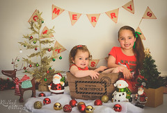 DSC_0046-Edit (Klicked Photography) Tags: christmas matte warm hazy xmas red green snow lights tree santa reindeer decorations merrychristmas merryxmas northpole love kids children child bear teddy cuddles sisters vignette nikon d5100 faded