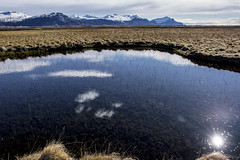 Every fairy tale comes real (OR_U) Tags: 2016 oru iceland landscape reflection clouds jonimitchell mountains puddle meadow