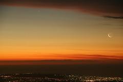Sunset Conjunction (padraic_koen) Tags: mercury moon sunset mtloftysummit adelaide southaustralia
