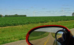 Country Blacktop, MN 7-13 (inkknife_2000 (7 million views +)) Tags: cornfields windturbines iowa minnesota midwest crops corn moon ghostmoon usa landscapes dgrahamphoto countryroad blacktophighway countyroad flatland prairie beans beanfields ditches farms lifeinthecountry farmland