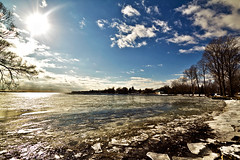 Frozen Motions (Matt Molloy) Tags: trees sky sun canada motion ice nature water clouds flow photography frozen timelapse movement bath melting waves ripples neat lakeontario mybackyard breaking lovelife mattmolloy