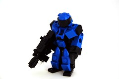 Power Miner Suit (Mags) Tags: blue robot gun power lego suit creation frame mecha bot mech miners moc biggun hardsuit retroy