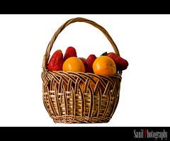 Fruits (Sanil Photography [800K views]) Tags: england food orange london fruits photography strawberry basket unitedkingdom indoor sanil anawesomeshot colorphotoaward flickraward colorfulfruits fruitsinabasket myfocuz sanilphotography linsaworld