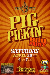 12.04.28 Pig Pickin Poster (pitbenkdh) Tags: party poster pig promo head bbq pit event entertainment outer banks obx pickin nags kdh boardriders upcoming:event=8823740