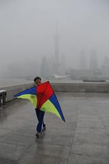 """Lenkdrachen auf dem """"Bund"""" in Shanghai"""