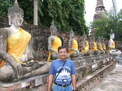 Phra Chedi Chaimongkol: lineup of Buddha idols (oldandsolo) Tags: thailand buddha buddhism wat siam camwhoring ayutthaya chedi buddhastatue buddhistshrine kingdomofsiam ancientthailand buddhistfaith ancientthaicapital phrachedichaimongkol