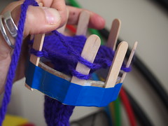 11.Yarn at the top of the peg. (birdlouise) Tags: circle french knitting craft off cast nancy finish