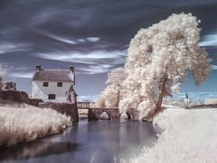 Stogursey Castle IR (Bob Small photography.) Tags: uk england west castle landscape ir britain somerset westcountry landmarktrust westsomerset stogursey stogurseycastle