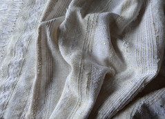 shawl for a bride (lovefibre) Tags: white texture scarf ivory wrap shawl weaving saori