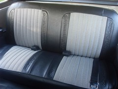 71K5Blazer_2k_rear_seat (Monaco Luxury) Tags: auto bar 1971 ps pb stereo chevy 350 roll custom blazer resto k5 pristine frameoff