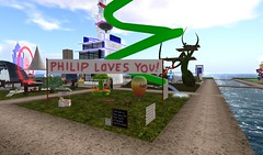 FCR exhibit at SL9B (Samantha Poindexter) Tags: secondlife firstchurchofrosedale sl9b
