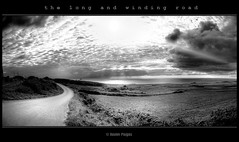 the long and winding road (www.xavierfargas.com) Tags: road sea blackandwhite bw panorama españa naturaleza blancoynegro nature water sunshine clouds mar blackwhite spain agua europa europe seascapes camino carretera path widescreen bn panasonic explore nubes stitching hdr cantabria cloudysky blanconegro rayosdesol monocolor panoramamaker photomatix marcantabrico paisajesmarinos cantabricsea 1xp xfp bej abigfave cielonublado p1000828 theunforgettablepictures artlegacy p1000827 goldstaraward flickrestrellas rubyphotographer p1000829 vosplusbellesphotos ubej dragondaggerphoto xavierfargas dmcft1 lumixdmcft1 bestofmywinners panorama3xp