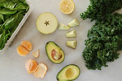 green smoothie ingredients (Stacy Spensley) Tags: green recipe avocado healthy smoothie kale spinach
