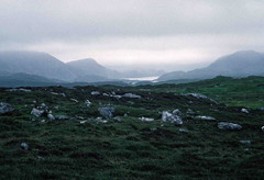 Hills of North Harris? from road to Brenish? (1996) (Duncan+Gladys) Tags: uk scotland enhanced isleoflewis rossandcromarty