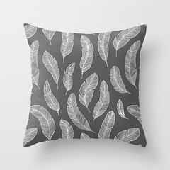 white feathers on black (Helga Wigandt) Tags: feathers pillow