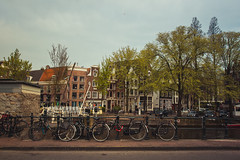 (thousandrealities) Tags: street city bridge vacation amsterdam spring europe view bicycles
