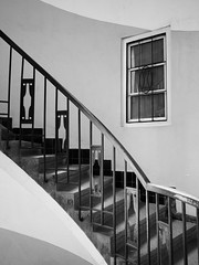 Haustori 037-3 (Green Onion) Tags: blackandwhite window stairs lumix interior panasonic staircase m43 14mm haustori
