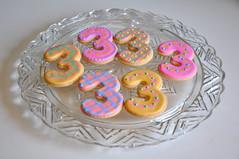 3rd Birthday Cookies