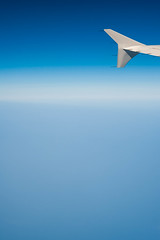 Airplane wing, Flying over Mediterranean Sea (Michal Jacobs) Tags: travel blue sky vertical plane airplane fly flying day aircraft flight wing aerialview bluesky aeroplane transportation vehicle traveling winglet clearsky wingtip enroute viewfromabove aileron