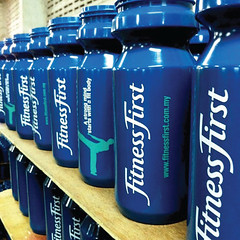 พิมพ์กระบอกน้ำ | Screen Print Bottle Fitness First