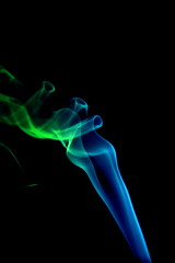 Smoke (LanceB.) Tags: blue green art canon fun photography cool interesting funny colorful artistic smoke 650d t4i