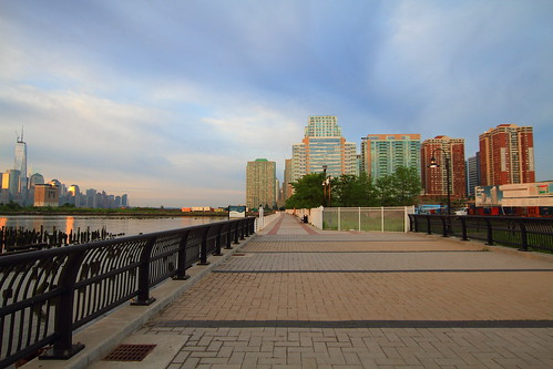 Promenade from Hoboken to Jersey City NJ