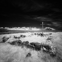 The Trial - Infrared (Andrew S. Gray) Tags: heritage history saint island cross ruin trace christian northumberland christianity isle hermit islet holyisland lindisfarne remnants stcuthbert 2013 andygray andrewsgray