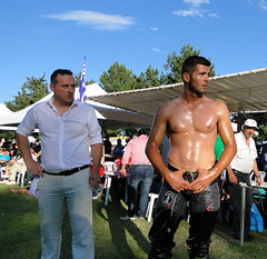Wrestling Sohos Greece 2013 (d.mavro) Tags: beautiful leather sport greek big wrestling traditional arena greece strong