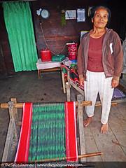 Ibu Br Sinaga, Desa Lumban Siagian (The Spice Journey) Tags: ulos sumatrautara tarutung tapanuliutara thespicejourney colorfulindonesia
