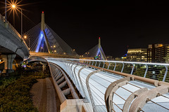 Zakim at night (Mike Orso) Tags: city longexposure travel bridge light color boston metal architecture night buildings river print photography lights photo gallery cityscape unitedstates image fineart charlesriver stock scenic canvas license zakim pedestrianbridge massachusettes paulreverepark theleonardpzakimbunkerhillmemorialbridge leonardp mikeorso
