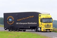 Mercedes Actros MP4 M60 CLL - Caledonian Logistics (gylesnikki) Tags: yellow truck artic mp4 lockerbie a74m caledonianlogistics