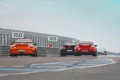 Stuttgart battle (Kumka) Tags: red orange black cars car race track 911 automotive turbo porsche lane trio gt curve rallye gt2 carrera 997 x3 gt3rs trackdays prenois