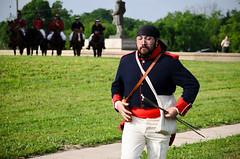 27th Annual Goliad Massacre (Tejas Cowboy) Tags: portrait horse river mexico army la costume san texas massacre candid tx bahia revolution annual antonio reenactment presidio cavalry texan 27th goliad fannin 1836 texican